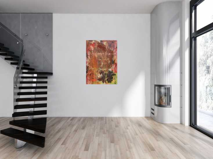 #1008 Abstraktes Gemälde in Mischtechnik Acryl und Rost sehr modern und ... 120x80cm von Alex Zerr
