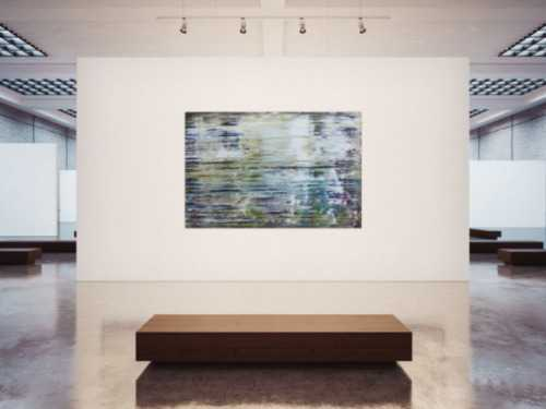 Abstraktes Gemälde sehr modern in Spachteltechnik mit hellen Farben