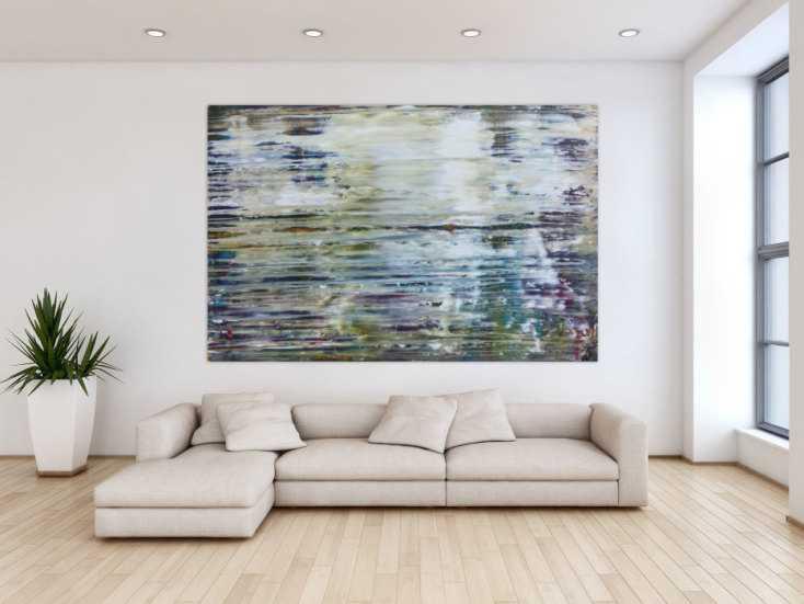 abstraktes gem lde sehr modern in spachteltechnik mit. Black Bedroom Furniture Sets. Home Design Ideas
