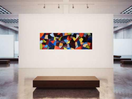Abstraktes Acrylbild XXL modern und bunt