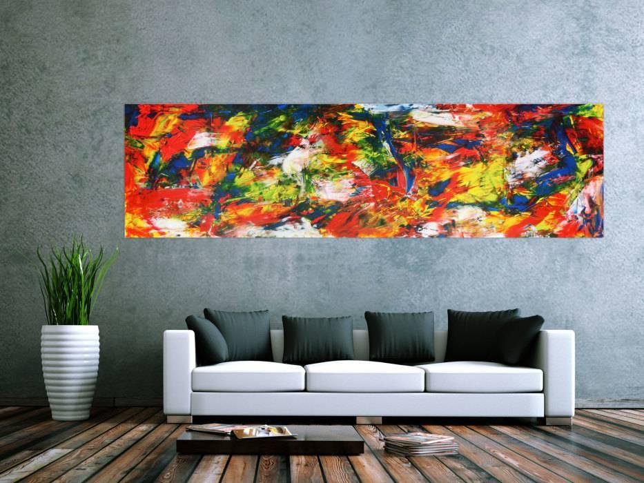 abstraktes acrylbild auf leinwand xxl handgemalt auf. Black Bedroom Furniture Sets. Home Design Ideas