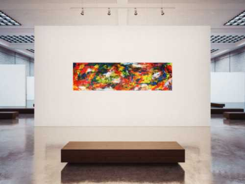 Abstraktes Acrylbild auf Leinwand XXL