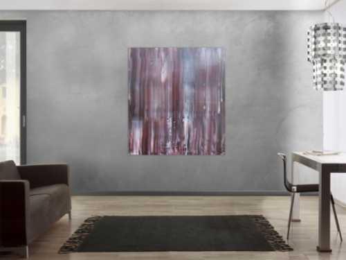 Schlichtes abstraktes Acrylbild Spachteltechnik braune Farben sehr modern