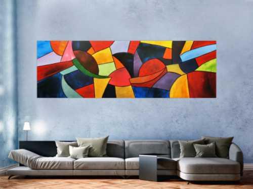 Abstrakte Acrylbilder in XXL große Bilder auf Leinwand online kaufen.