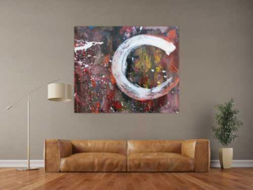 Abstraktes Acrylbild Mischtechnik sehr modern zeitgenössisches Wandbild handgemalt