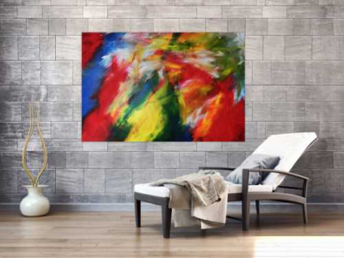 Abstraktes Acrylbild mit abstraktem Motiv