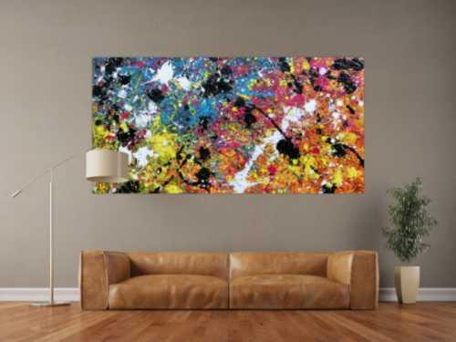 Abstraktes Bild Action Painting Expressionistisch moderne malerei zeitgenössisch bunt Splash Art