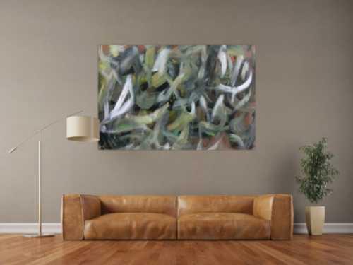 Abstraktes Acrylbild Camouflage sehr modern zeitgenössisch handgemalt