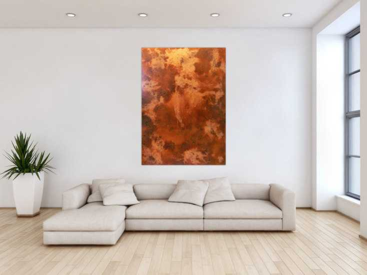 Bilder Xxl Kaufen ~ Abstrakts rostbild xxl auf leinwand cm