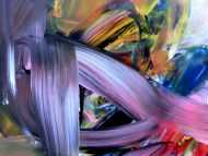Detailaufnahme Abstraktes Acrylbild im Großformat sehr modern zeitgenössisch expressionismus