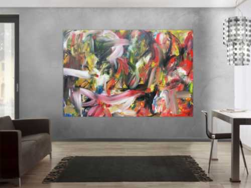 Abstraktes Acrylbild im Großformat sehr modern zeitgenössisch expressionismus