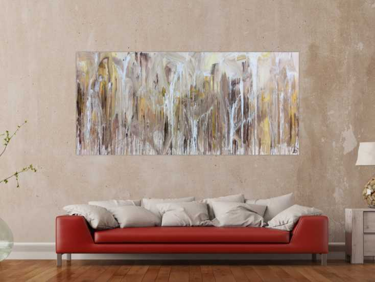 abstraktes acrylbild fliesstechnik sehr modern helle. Black Bedroom Furniture Sets. Home Design Ideas
