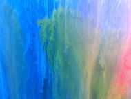 Detailaufnahme Abstraktes Gemälde sehr bunt modern in Fliesstechnik viele Farben