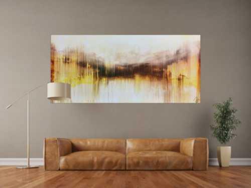 Abstraktes Acrylbild sehr modern mediterrane Farben Mischtechnik
