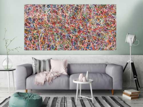 Abstraktes Acrylbild Gemälde bunt