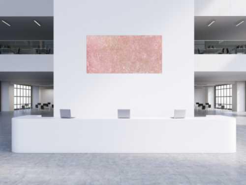 Abstrakes Bild Rosa Acryl
