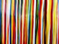 Detailaufnahme Abstraktes Acrylbild bunte Streifen sehr modern Spachteltechnik viele Farben