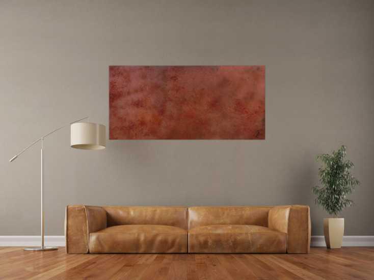 #1108 Abstraktes Bild aus echtem Rost sehr modern dunkle Farbe Rust Art - ... 80x140cm von Alex Zerr