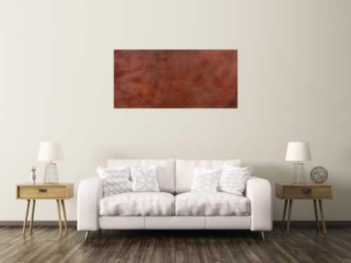 Abstraktes Bild aus echtem Rost sehr modern dunkle Farbe Rust Art - Kust aus Rost