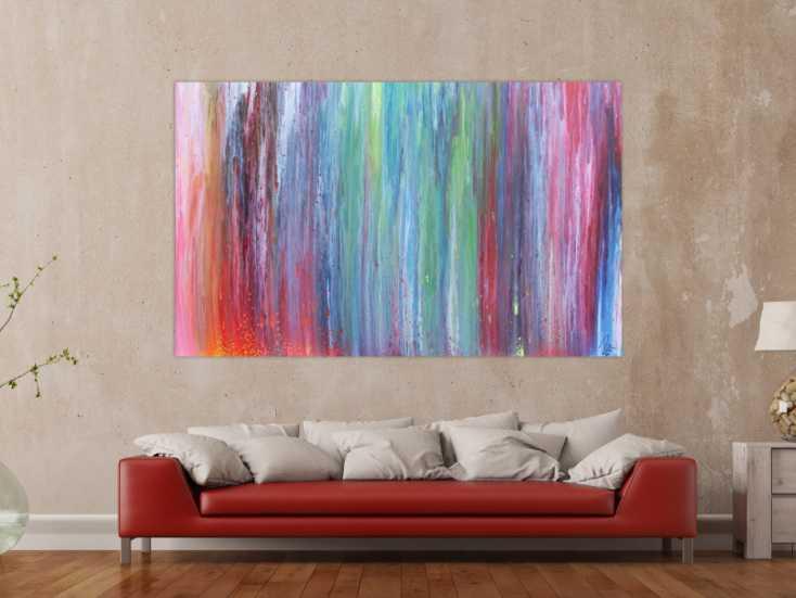 #1121 Abstraktes Acrylbild sehr bunt Fließtechnik modern und sehr ... 120x190cm von Alex Zerr