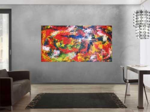 Modernes Acrylbild abstrakt bunt
