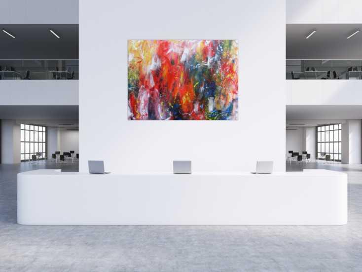 #1137 Abstraktes Acrylbild sehr bunt Mischtechnik modern Action Painting  150x200cm von Alex Zerr