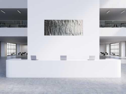 Abstraktes Acrylbild schwarz weiß modern