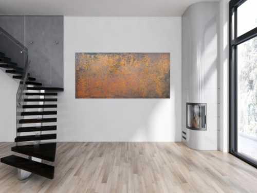 Abstraktes Gemälde aus echtem Rost sehr modern