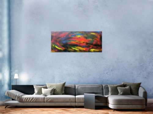 Abstraktes Acrybild bunt modern