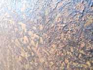 Detailaufnahme Abstraktes Bild aus echtem Rost sehr modern schlicht zeitgenössisch erdfarben rost orange