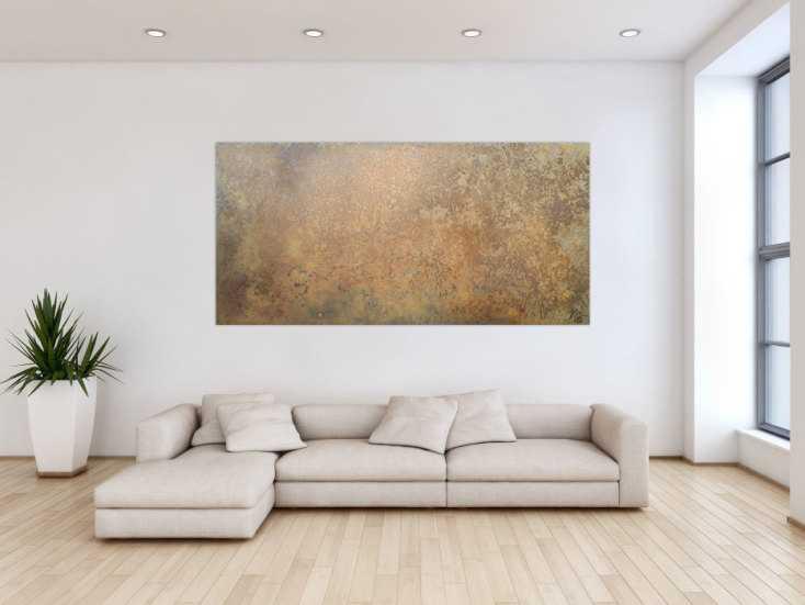#1181 Abstraktes Bild aus echtem Rost sehr modern schlicht zeitgenössisch ... 100x200cm von Alex Zerr