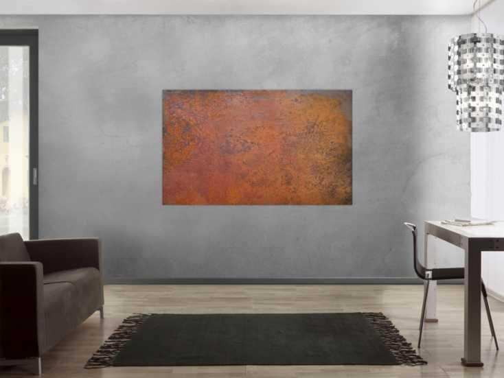 #1185 Abstraktes Bild aus echtem Rost sehr modern braun orange Rostfarbe ... 100x160cm von Alex Zerr