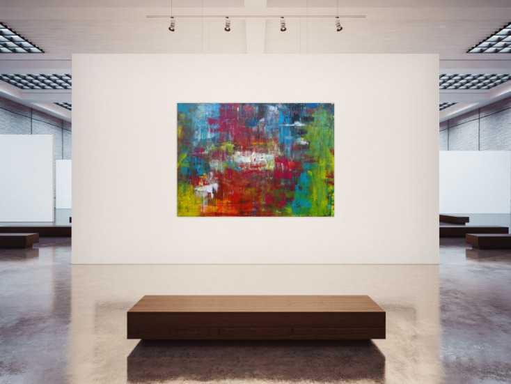 #1195 Abstraktes Acrylbild sehr modern in Spachteltechnik bunt viele Farben ... 150x200cm von Alex Zerr