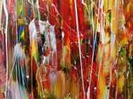 Detailaufnahme Modernes Acrylbild abstrakt und bunt