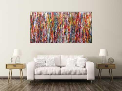 Modernes Acrylbild abstrakt und bunt