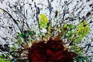 Detailaufnahme Abstraktes Acrylbild aus echtem Rost und Acryl Mischtechnik Splash Art aus Rost sehr modern zeitgenössisch