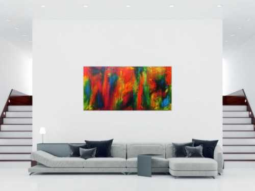 Abstraktes Acrylbild modern Großformat