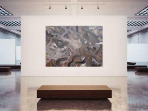 Abstraktes Acrylbild sehr modern braune Farben zeitgenössisch modern handgemalt