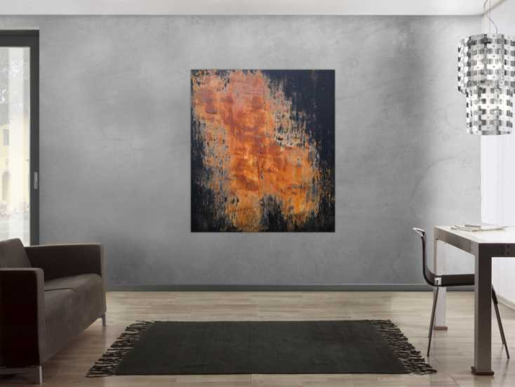 #1226 Abstraktes Acrylbild aus echtem Rost und Acryl Mischtechnik sehr ... 140x120cm von Alex Zerr