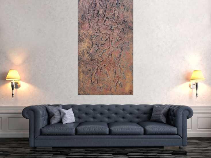 #1247 Abstraktes Bild aus echtem Rost Rostbild und starker Struktur sehr ... 150x80cm von Alex Zerr