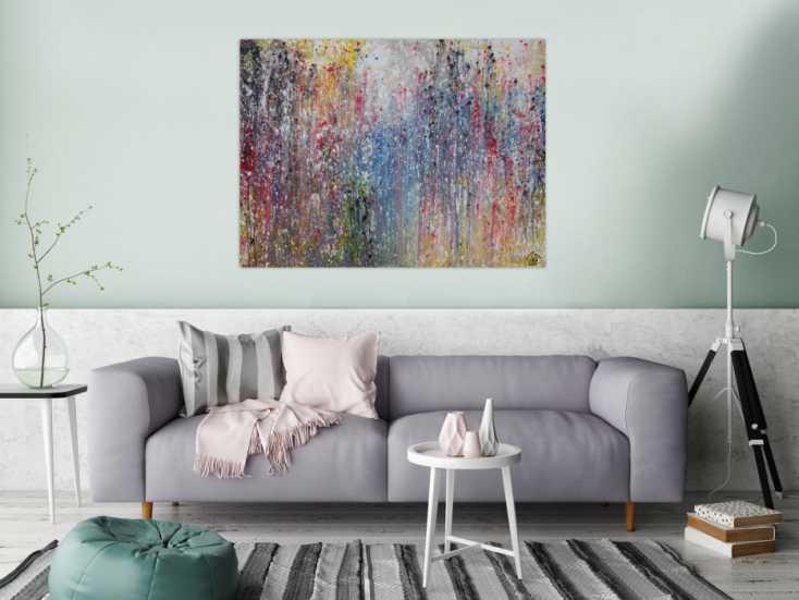 #1248 Abstraktes Acrylbild sehr bunt modern viele Farben Mischtechnik ... 90x120cm von Alex Zerr