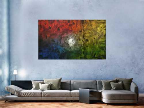 Buntes Gemälde abstrakt aus Acryl