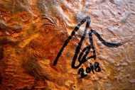 Detailaufnahme Abstraktes Bild aus echtem Rost Rostbild sehr modern braun orange Erdfarben