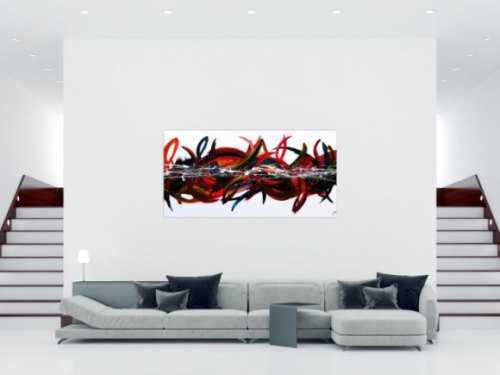 Abstraktes Acrylgemälde modern und bunt