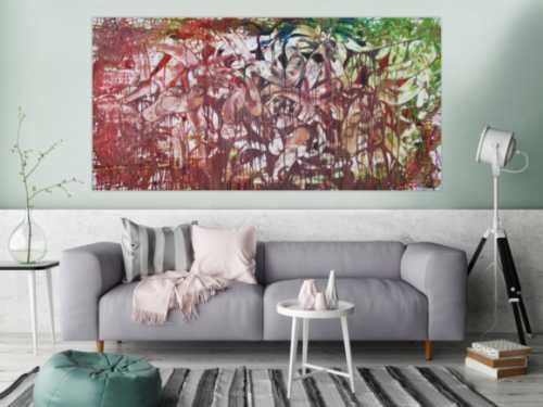 Abstraktes Acrylbild moderne Kunst Expressionismus Informel zeitgenössisch