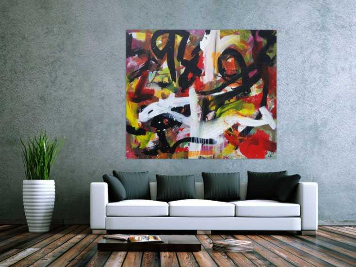 #1276 Modernes Gemälde abstrakter Expressionismus Informel handgemalt auf ... 130x150cm von Alex Zerr