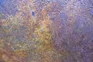 Detailaufnahme Abstraktes Bild aus echtem Rost auf Leinwand moderne Kunst abstrakt Expressionistisch
