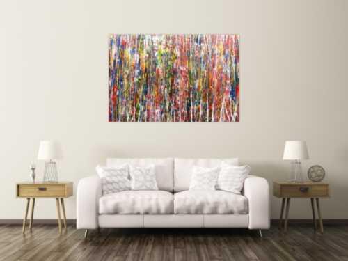 Buntes Acrylbild abstrakt und modern