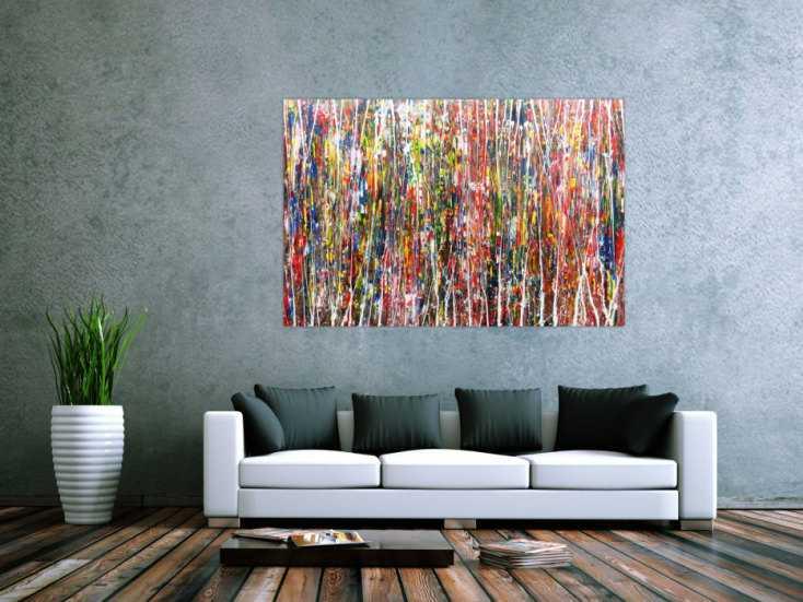 #130 Buntes Acrylbild abstrakt und modern 100x150cm von Alex Zerr