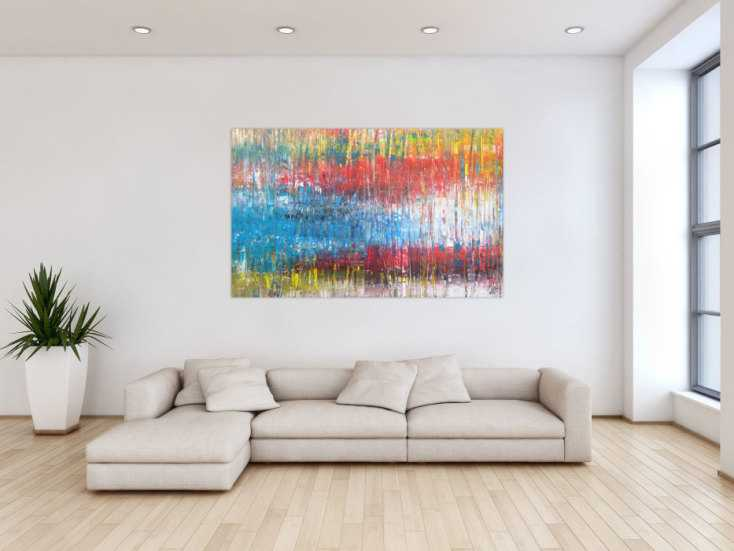 #1303 Abstraktes Acrylbild sehr bunt Spachteltechnik Modern Art ... 100x160cm von Alex Zerr
